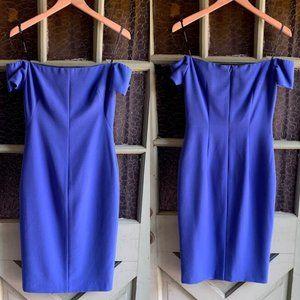 NWOT Black Halo Off the Shoulder Dress